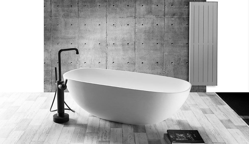 Salle de bain blanche grise - Küchen Spezialist - Spécialiste de la cuisine allemande Ostwald La Vigie