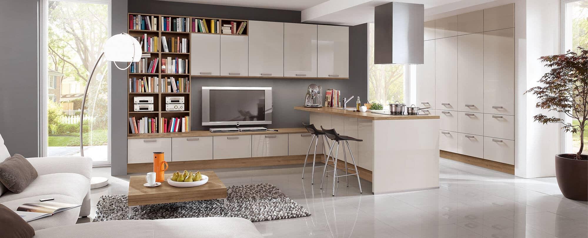 mod le point int gr au salon cuisine brillante k chen spezialist. Black Bedroom Furniture Sets. Home Design Ideas