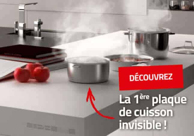 Plaque de cuisson invisible